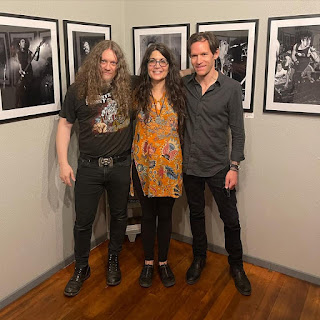 Dennis Dread, Alison Braun and her husband Benjamin Malay who framed every piece in the show himself!