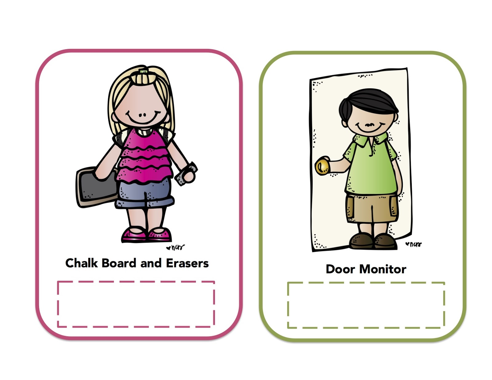 Classroom Helpers Printables Preschool Pictures To Pin