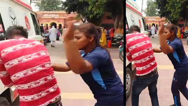 UP: Female boxer slaps, punches harasser in Muzaffarnagar, News, Local-News, Boxing, Girl, attack, Youth, Video, Hospital, Injured, National