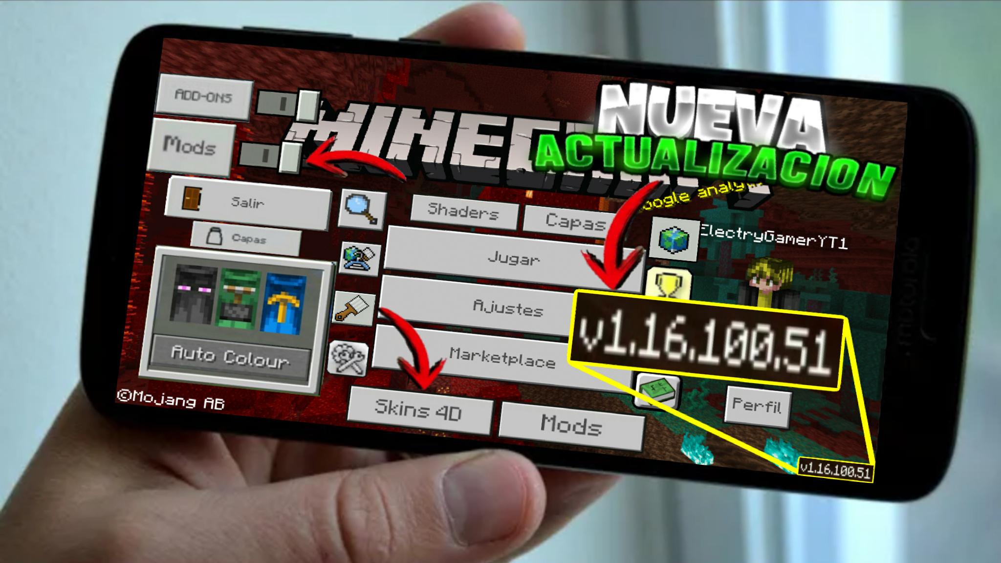 Como Descargar Minecraft Pe 1 16 100 51 Apk Gratis Para Android Ultima Version Mediafire 2020