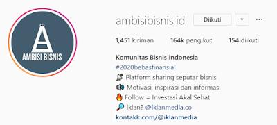 Akun Instagram bisnis dengan follower terbanyak