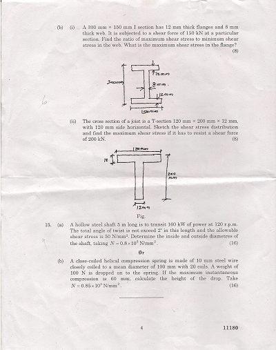 CE2201 Mechanics of Solids Nov Dec 2012 Question Paper