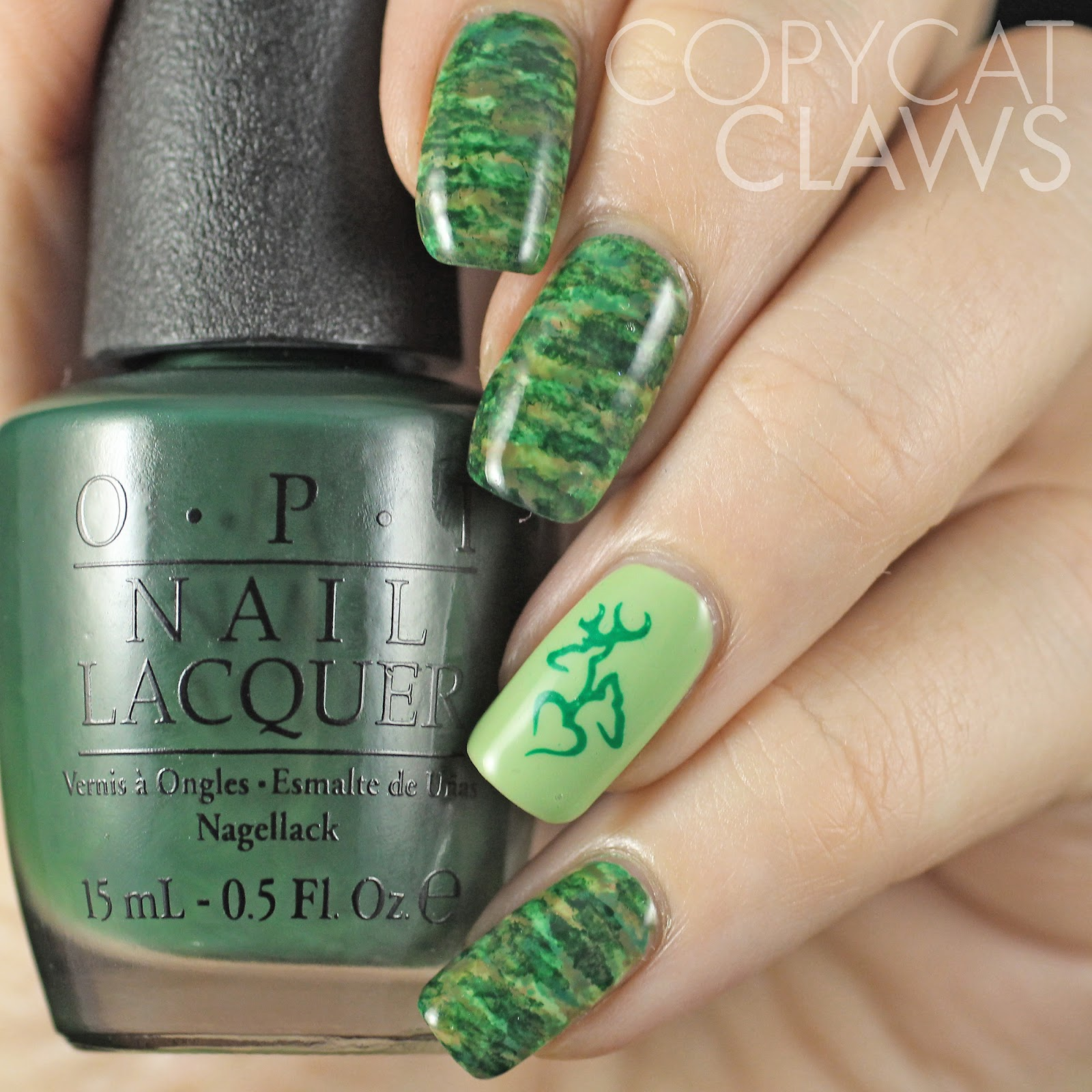 Copycat Claws: Chisel Camo Nails Inspired by Beaching Nails