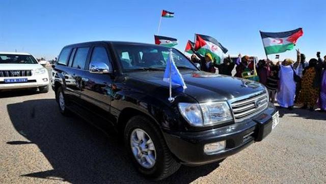 استقبال الشعب الصحراوي للامين العام للامم المتحدة في صور