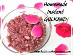 Homemade InstantRose Gulkand