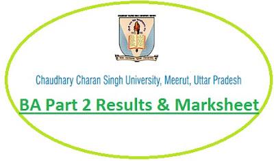 CCSU Meerut BA Part 2 Result 2021