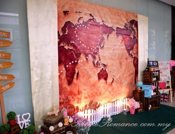 Travel Theme Decoration Melaka Purple Romance Event