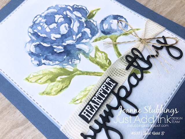 Jo's Stamping Spot - Just Add Ink Challenge #533 - Sympathy watercolour card using Prized Peony stamp set by Stampin' Up!