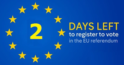 2 days left to register to vote in the EU Referendum