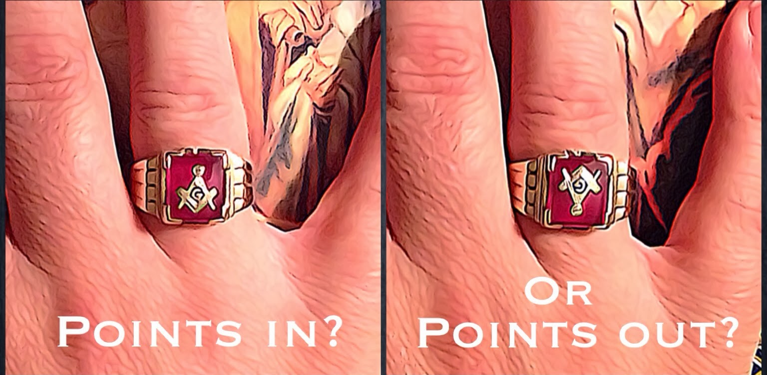 ba3e9ed4c3c23 The Midnight Freemasons: Masonic Rings: Points In Or Points Out?