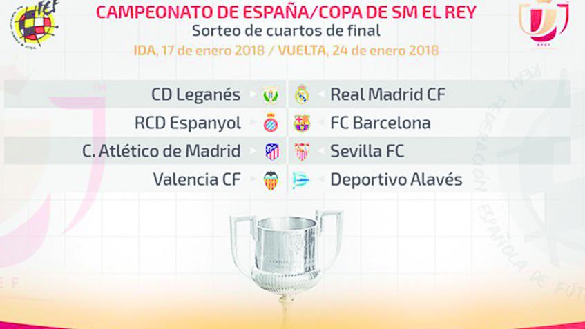 Copa del Rey ya tiene sus enfrentamientos para los cuartos de final ...