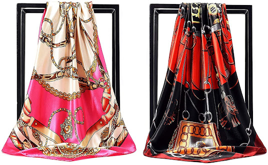 Gorgeous Designer Silk Satin Scarves