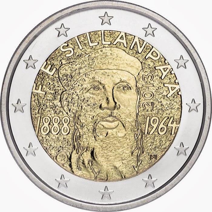 2 euro Finland 2013, Frans Eemil Sillanpää