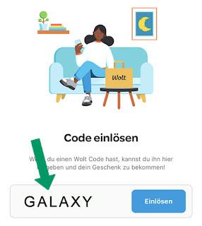 Wolt promo code: GALAXY