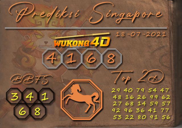 PREDIKSI TOGEL SINGAPORE WUKONG4D 18 JULI 2021