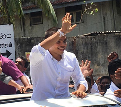 Namal celebrates  bail release on high note