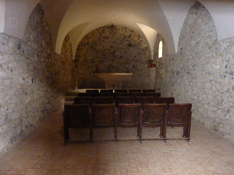 Chapel Inside The Santa Margarida Volcano