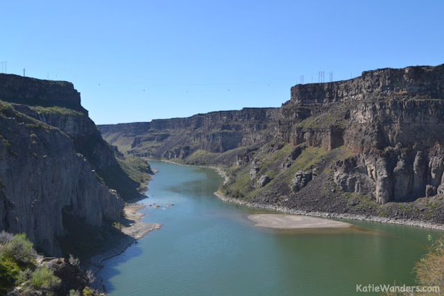Snake River from Shoshone Falls