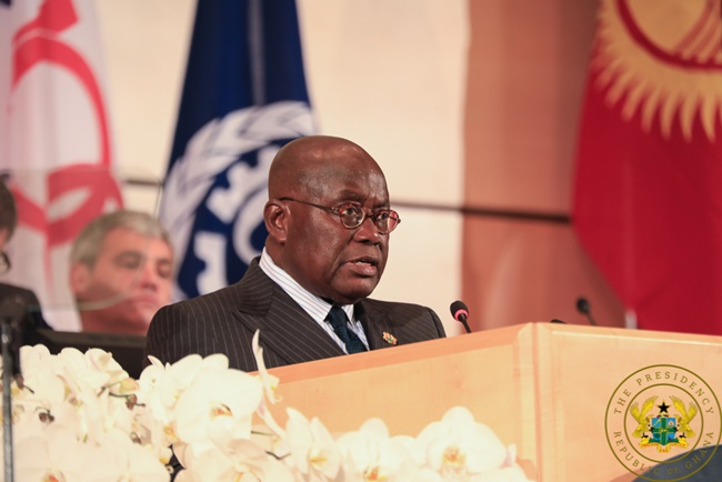 President Akufo-Addo Attends AU Extraordinary Summit; Embarks On 3-Day Official Visit To France; Takes One-Week Leave Of Office