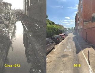 El canal a cielo abierto dio paso a la calle Pintor Sorolla