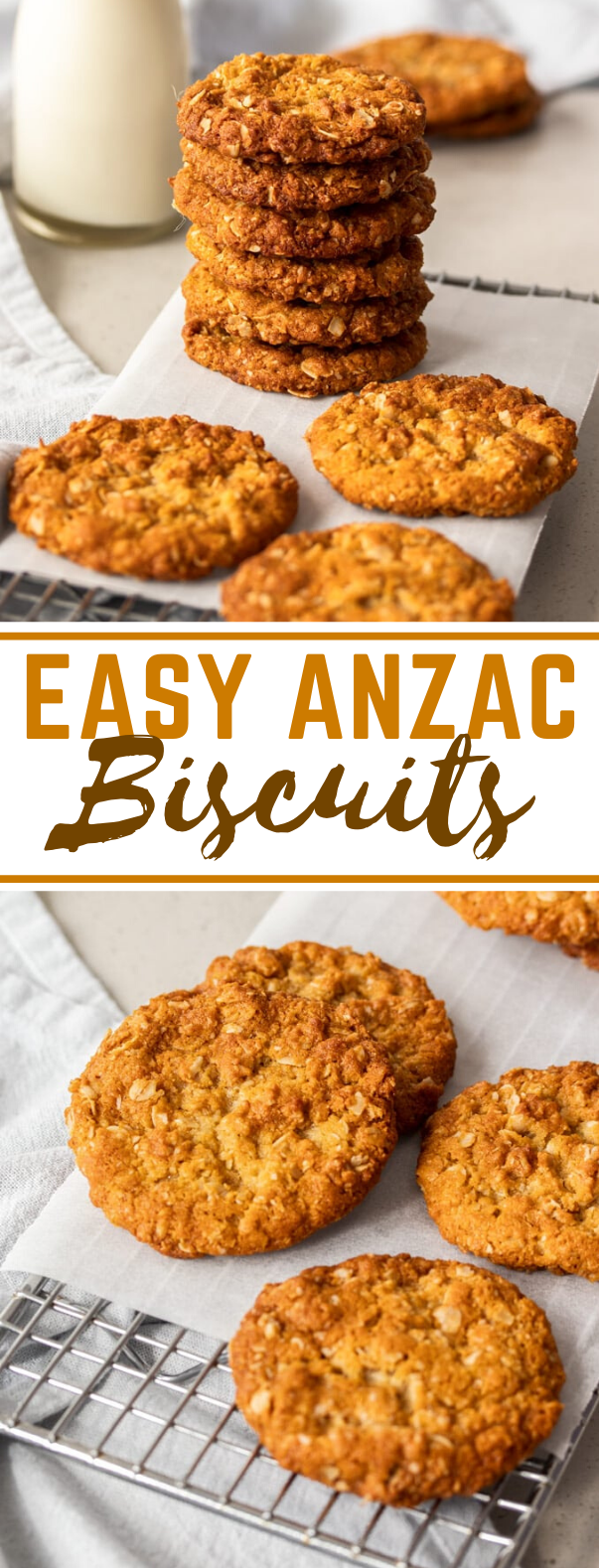 EASY ANZAC BISCUITS #cookies #desserts