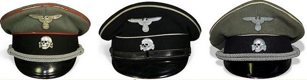 Casquettes SS- photo du site web Espenlaub Militaria