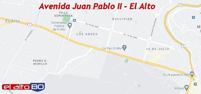 El Alto: Avenida Juan Pablo II