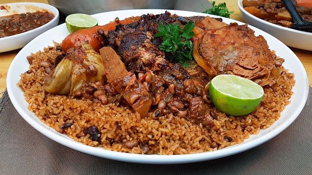Le thiébou guedj ou riz au poisson séché sénégalais: Cuisine, riz, haricot, poisson, tomate, recette, plat, repas,  LEUKSENEGAL, Dakar-Sénégal, Afrique