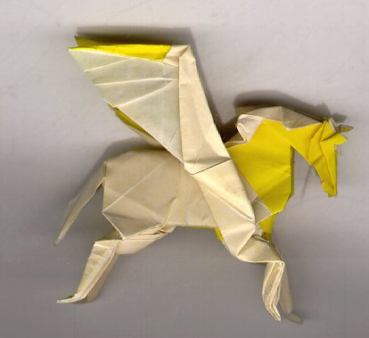 how to make a origami pegasus yellow shadow