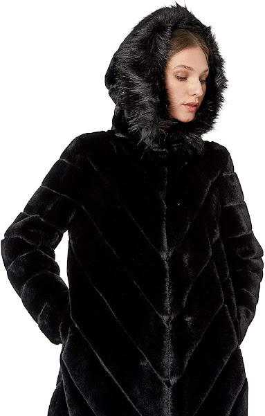 Hooded Faux Fur Jackets Coats for Women