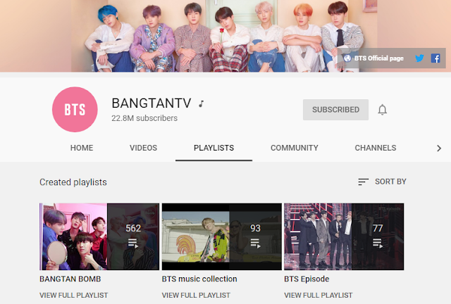 Channel YouTube BTS