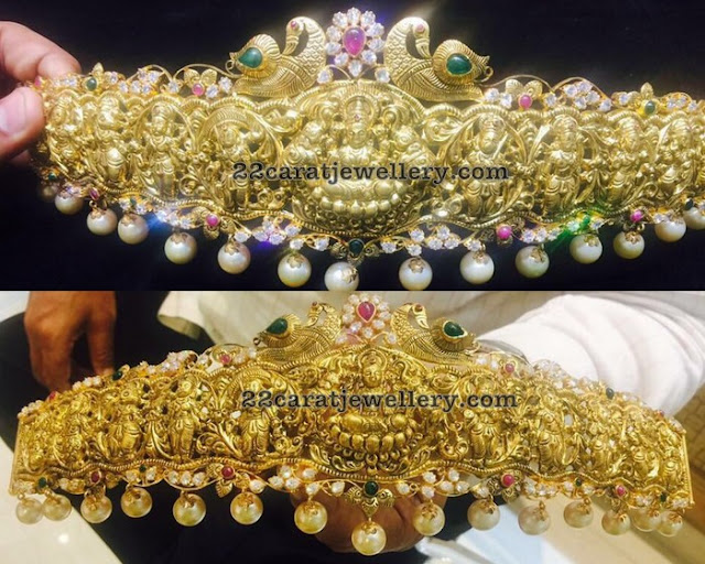 Nakshi and Pachi Work Lakshmi Waist Belt
