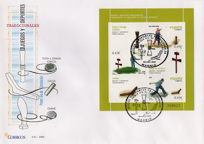 sello, sobre, juegos, tradicionales