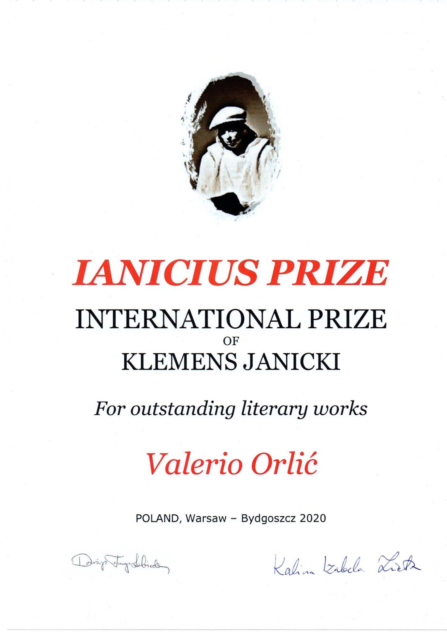 Valerio Orlić i Ante Gregov Jurin dobitnici ugledne poljske nagrade za književnost