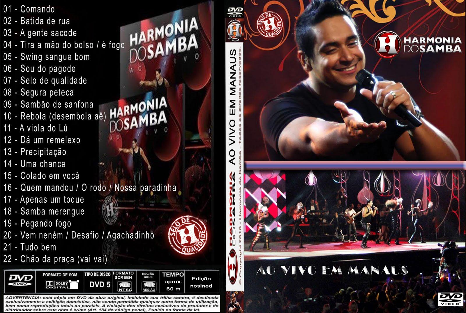 audio dvd harmonia do samba manaus