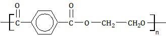 rumus struktur polimer dakron , tetoron , poliester