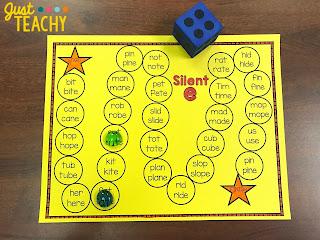 Silent e Board Game Freebie