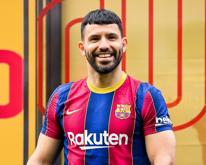 Sergio Aguero completes his two years deal move to Barcelona on a free transfer
