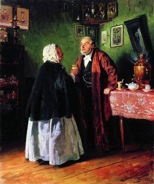 Маковский Владимир Егорович - Поздравление. 1878