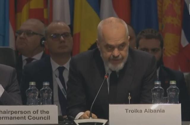 L'Albania assume la presidenza della Presidenza dell'OSCE, Rama: onore e grande responsabilità