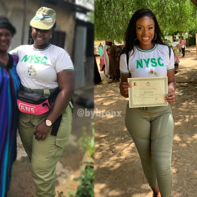 [PHOTOS] Shocking Transformation: How Nigerian Lady started NYSC vs How she ended