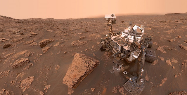 curiosity snaps photos of thickening haze as martian dust storm goes global