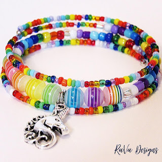 rava designs handmade memory wire bracelet bead pattern ideas