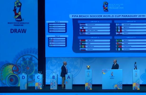 قرعة كأس العالم للكرة الشاطئية 2019