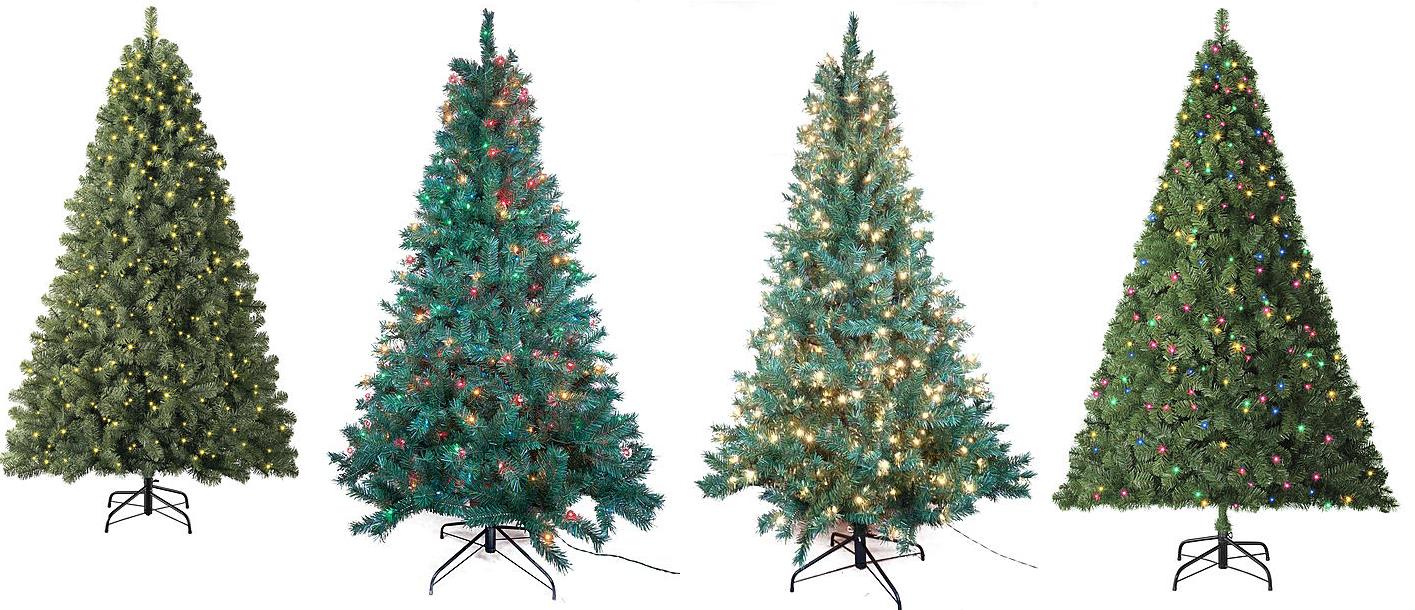 Pre Lit Artificial Christmas Trees On Sale Kmart