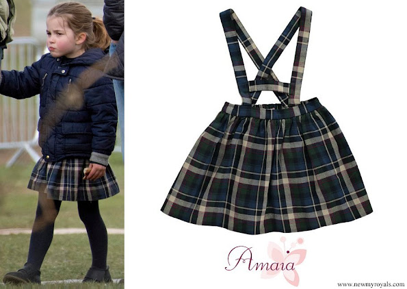 Princess Charlotte is wearing Amaia Kids Yarrow Tartan Plaid Skirt