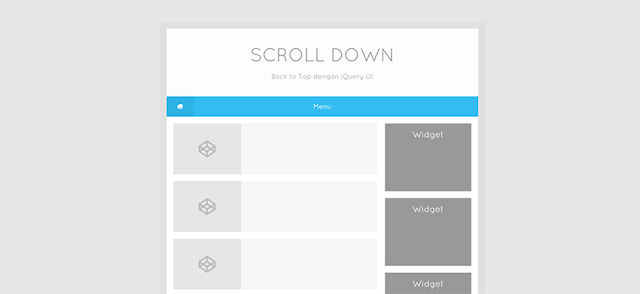 Installing the Back to Top Button with jQuery UI
