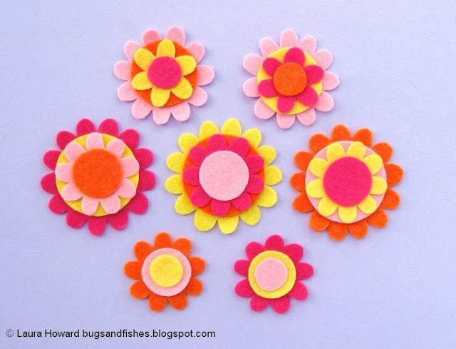 Felt Flower Crown Sewing Tutorial: cut out the felt pieces