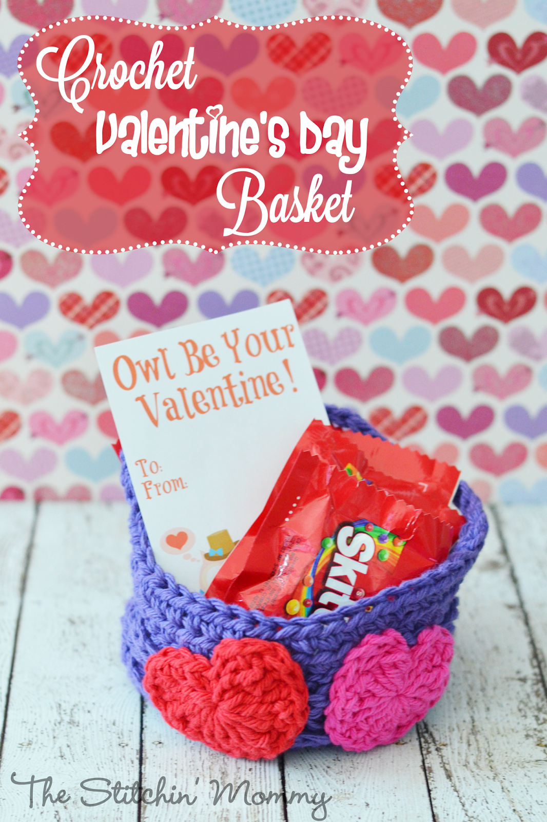 Crochet Valentineu0027s Day Basket By The Stitchinu0027 Mommy  Https://www.thestitchinmommy