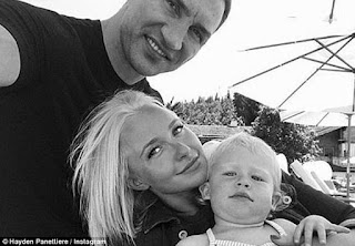 Hayden Panetierre with her husband Wladimir Klitschko and daughter Kaya